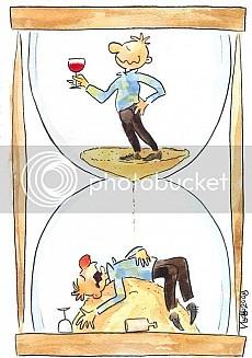 Тече, всичко тече, виното няма бряг и ни влече...